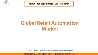 Global Retail Automation Market, Size and Segmentation