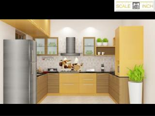 U shaped kitchen designs By Scale Inch