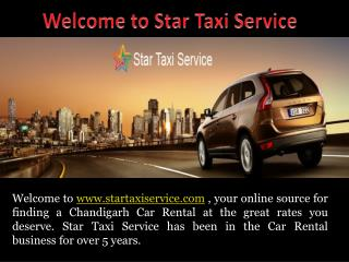 Star Taxi Service provides taxi rental service