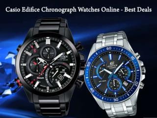 Casio Edifice Chronograph Watches Online - Best Deals