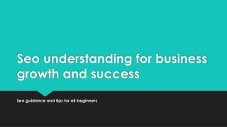 Seo understanding for business growth and success