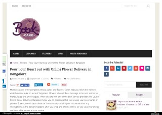Make a connection with Online Flower Delivery in Bangalore
