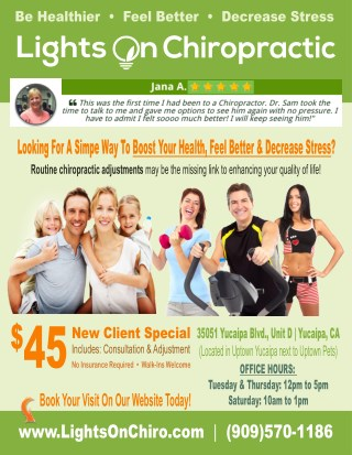 $45 Special Yucaipa Chiropractor