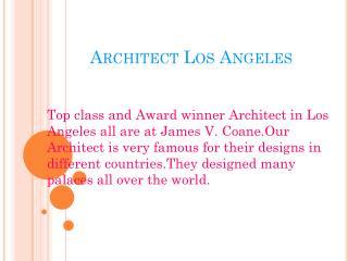 Architect Los Angeles