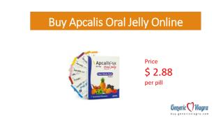 Buy Apcalils oral jelly at Buy-GenericViagra.com