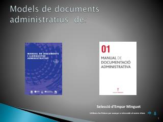 Models de documents administratius  de: