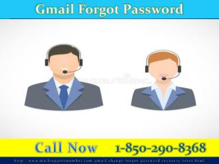 Gmail Password Recovery:  1-850-290-8368 On Procedure Is Just a Call Away