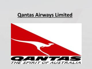 Qantas airways limited- MakeMyAssignments.com