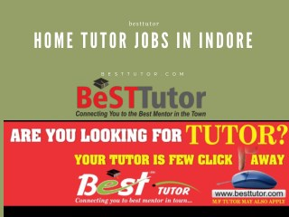 Home Tutor Jobs In Indore