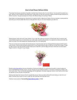 How to Send Flower Delivery Online