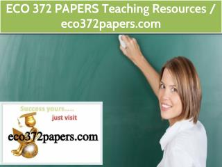 ECO 372 PAPERS Teaching Resources / eco372papers.com