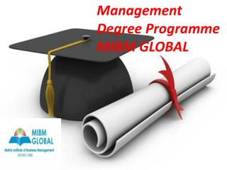 Management degree programme One year online MBA