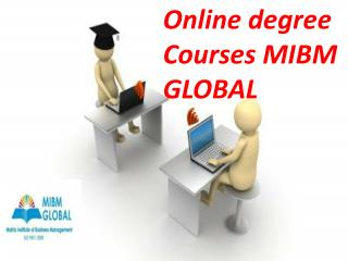 Online degree courses and training courses available