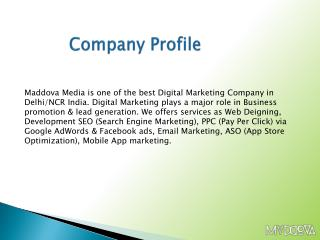 Maddova - Best Digital Marketing Company, Delhi-NCR, India