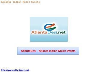 AtlantaDesi - Atlanta Indian Music Events