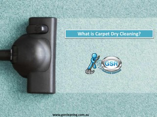 What is Carpet Dry Cleaning?