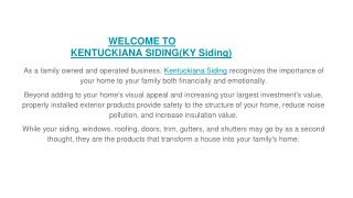 Commercial and residential siding, roofing contractor, Seamless gutters at Louisville KY