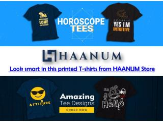 Round Neck T shirts Collection from Haanum