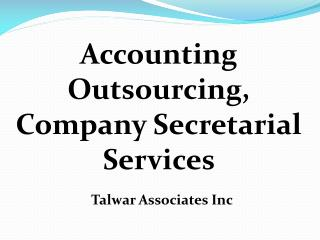 Accounting Outsourcing Services in Delhi |   91 11 27566140