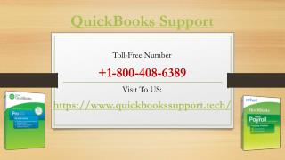 Customer Issues Handle By QuickBooks Support