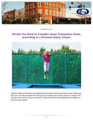 Details You Need to Consider about Trampoline Parks, According to a Personal Injury Lawyer