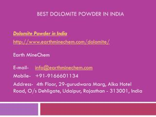 Best Dolomite Powder in India