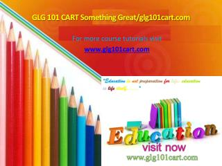 GLG 101 CART Something Great/glg101cart.com