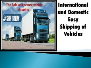 Get Cost Effective Vehicle Shipping