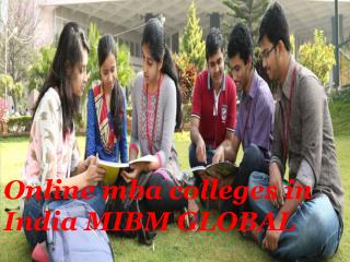 Online mba colleges in India MIBM GLOBAL
