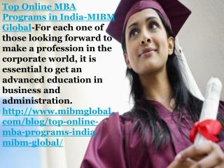 Top online mba programs in India Post Graduate Diploma