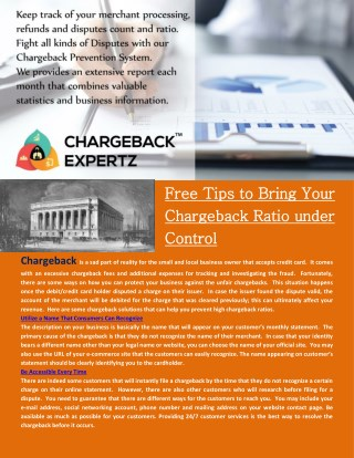 Chargebacks and Fraud Prevention tips by Chargeback Expertz