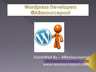 Wordpress Developers @AResourcepool