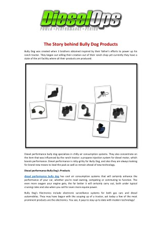 The Story Behind Bully Dog Products