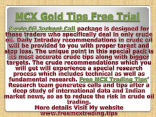 Crude Oil Jackpot Call package With Affordable Price
