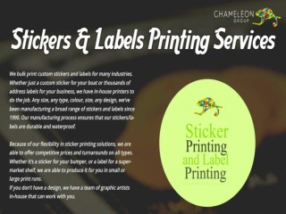 Customized Sticker Printing Services Australia