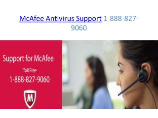 McAfee Antivirus Support 1-888-827-9060