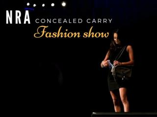 NRA holds 'fashion show' for gun accessories