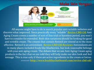 Revive CBD Oil - Effective Anti-Aging Cream by Beauty & Truth!