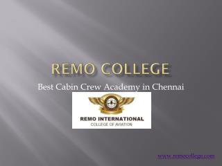 Best Cabin Crew Training in Chennai - Remo College
