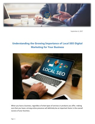Understanding the Growing Importance of Local SEO Digital Marketing for Your Business