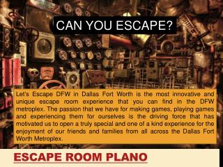 Escape Room Plano