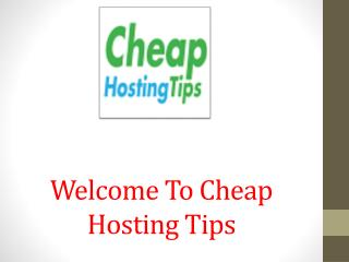 Cheap Hosting Tips