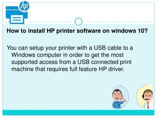 How to install HP printer Software on windows 10?