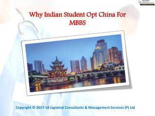 Why Indian Student Opt China For MBBS