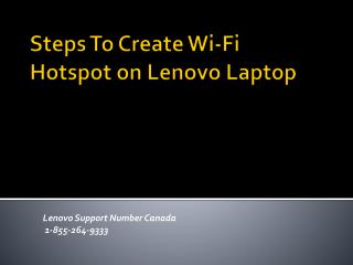 Steps To Create Wi-Fi Hotspot on Lenovo Laptop