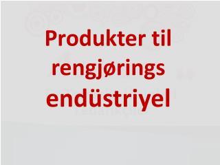 Produkter til rengjørings endüstriyel