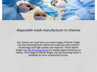 disposable mask manufacturer in mumbai