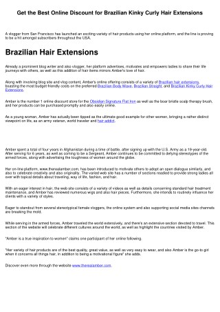Get the Online Warehouse Prices for Brazilian Body Wave Hair Extensions