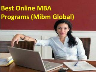 Best Online MBA Programs (Mibm Global)