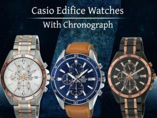 Casio Edifice Watches With Chronograph
